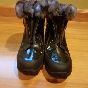 Fur topped bootie